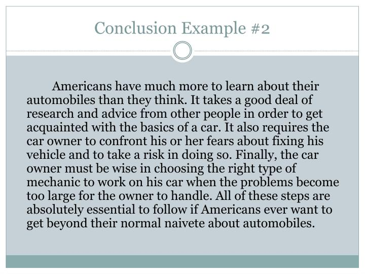 Conclusion Example #2