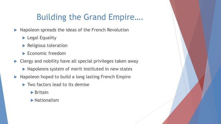 Building the Grand Empire….