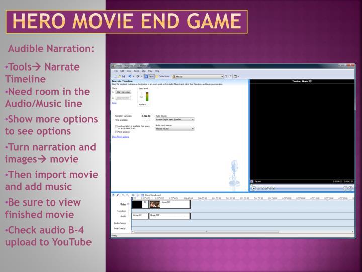 Hero Movie End Game