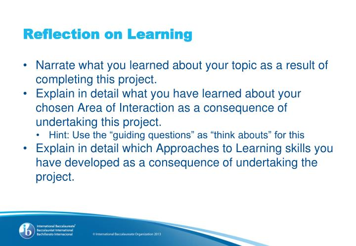 Reflection on Learning