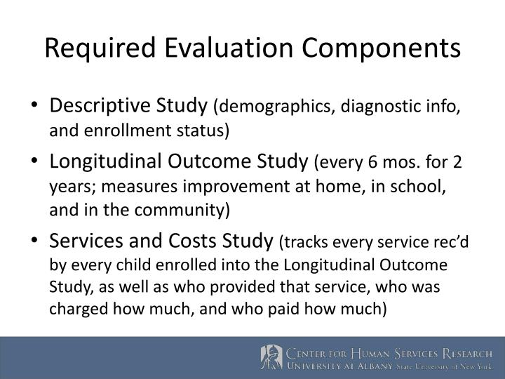 Required evaluation components