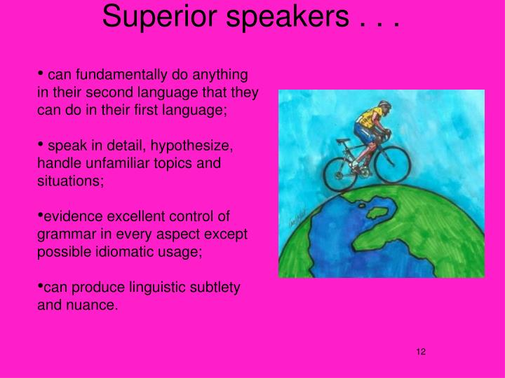 Superior speakers . . .