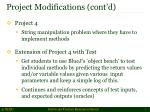 project modifications cont d1