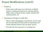 project modifications cont d2