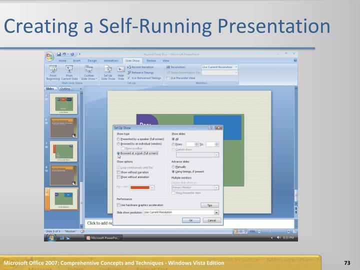 Creating a Self-Running Presentation