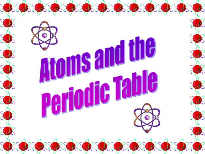 Atoms and the