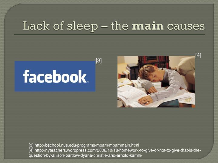Lack of sleep – the