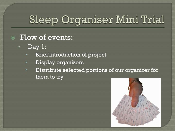 Sleep Organiser Mini Trial