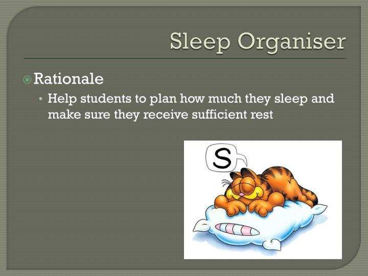 Sleep Organiser