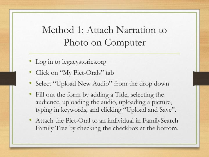 Method 1: Attach Narration to Photo on Computer
