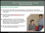 step 6 create environmental concepts negative brainstorming