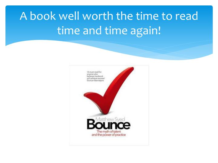 A book well worth the time to read time and time again!