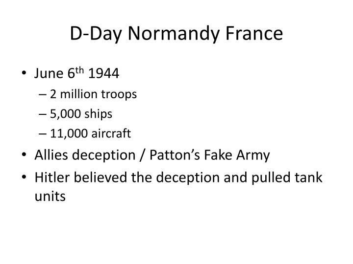 D-Day Normandy France