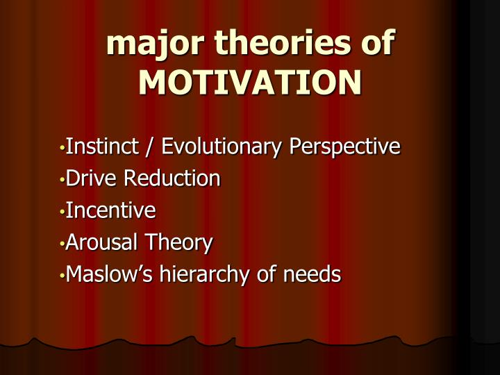 major theories of MOTIVATION