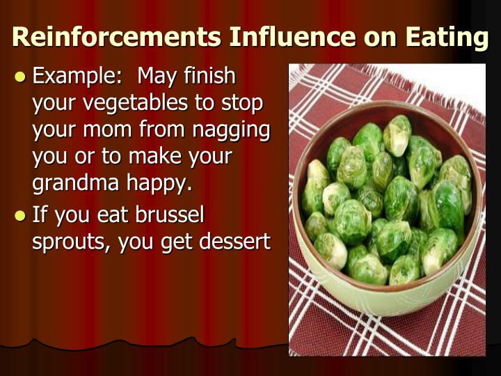 Reinforcements Influence on Eating