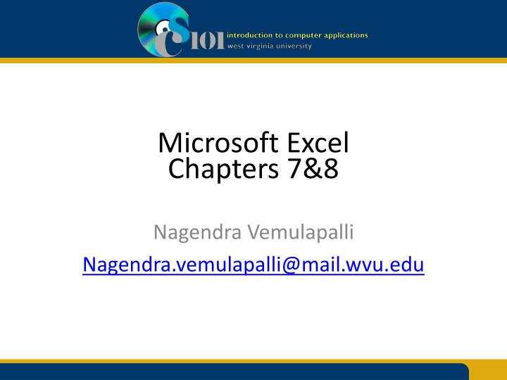 microsoft excel chapters 7 8