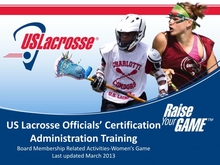 US Lacrosse Officials' Certification Administration Training