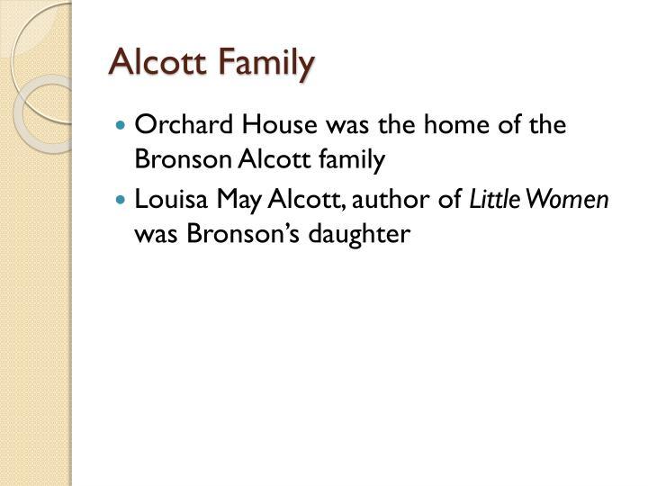 Alcott family