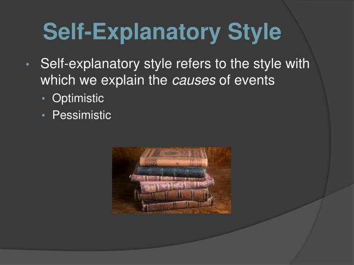 Self-Explanatory Style