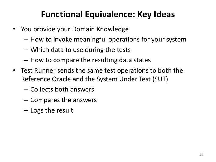 Functional Equivalence: Key Ideas