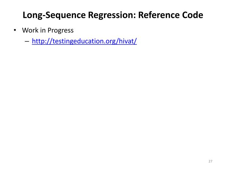 Long-Sequence Regression: Reference Code