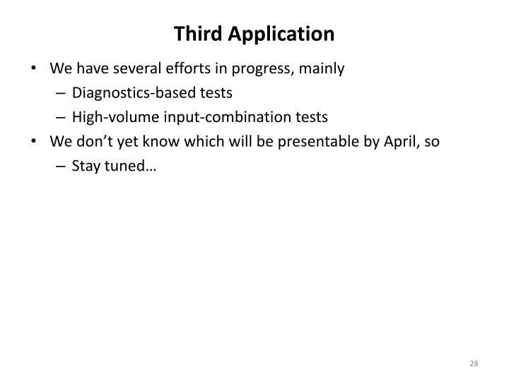Third Application