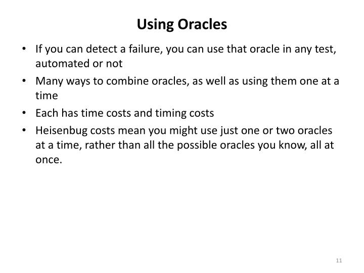 Using Oracles
