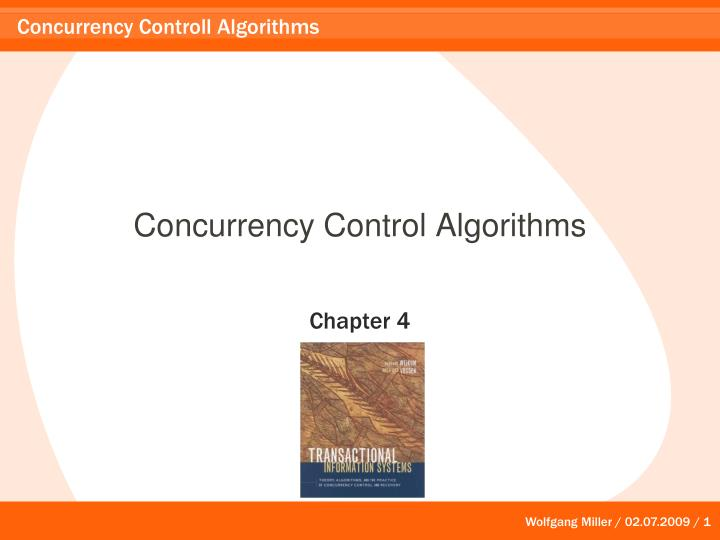 concurrency control algorithms n.