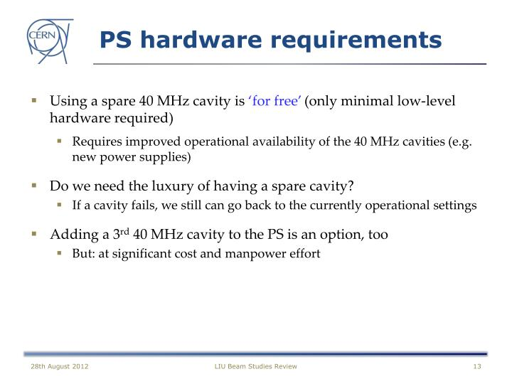 PS hardware requirements