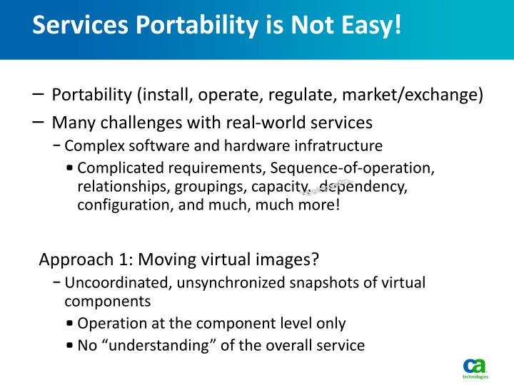 Services Portability is Not Easy!