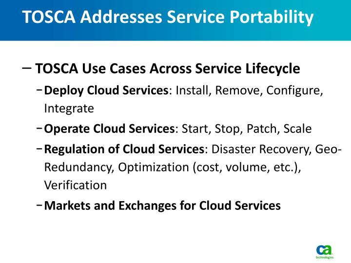 TOSCA Addresses