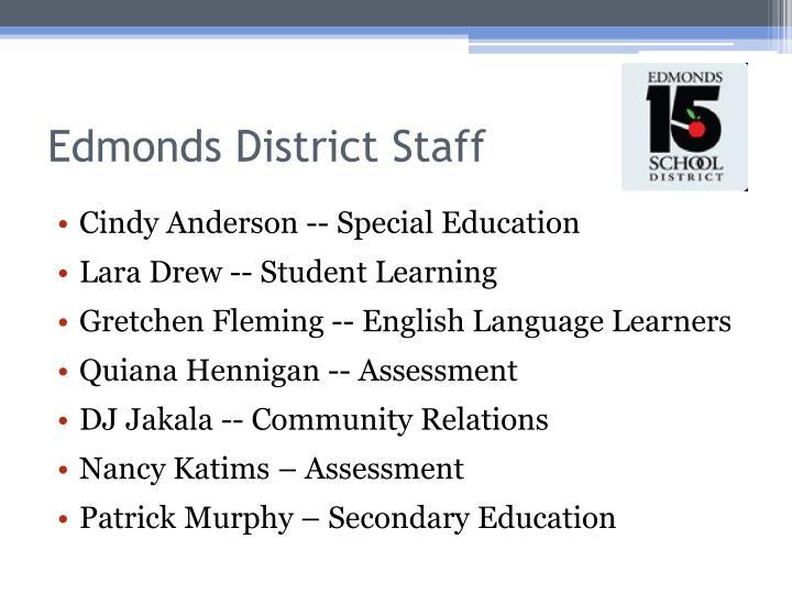 Edmonds district staff