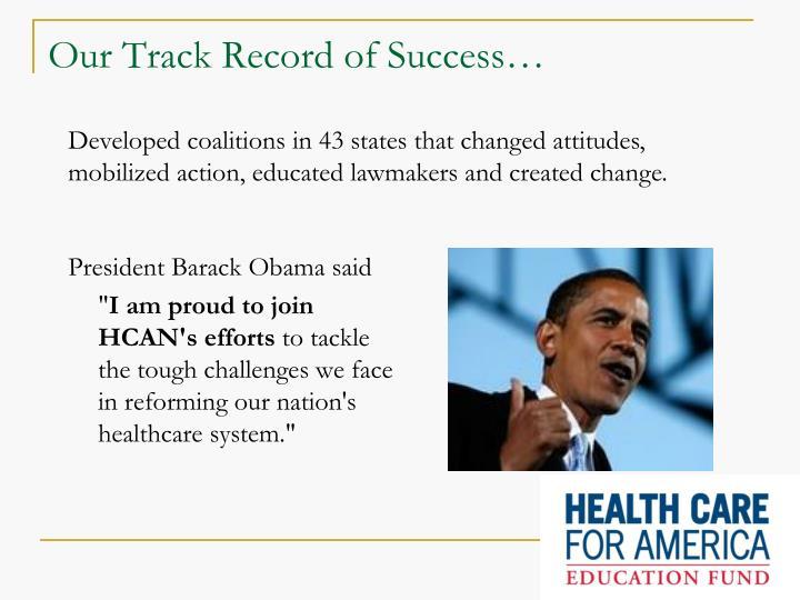 President Barack Obama said