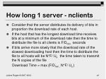 how long 1 server nclients