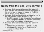 query from the local dns server 3