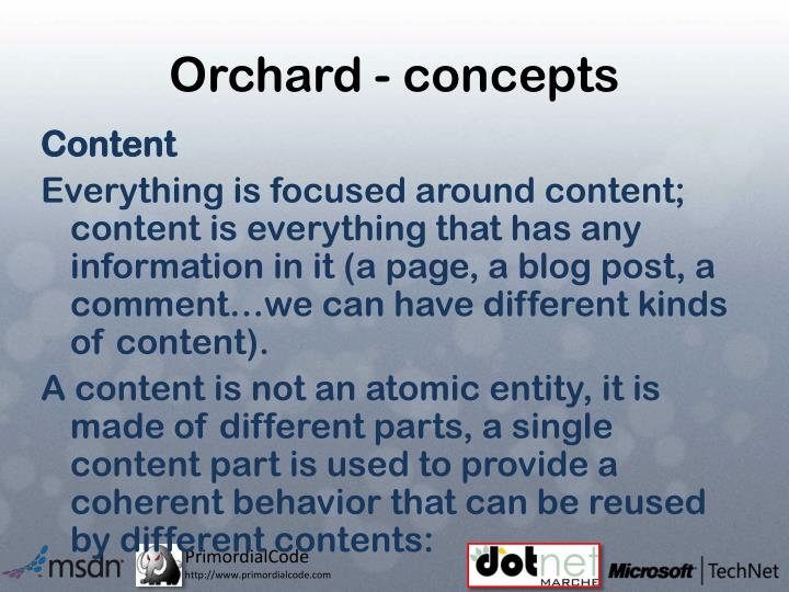 Orchard - concepts