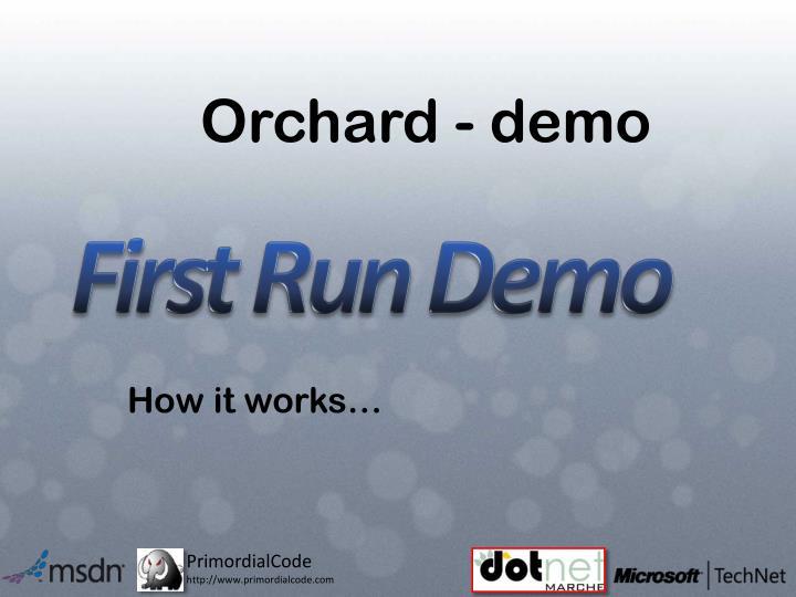 Orchard - demo