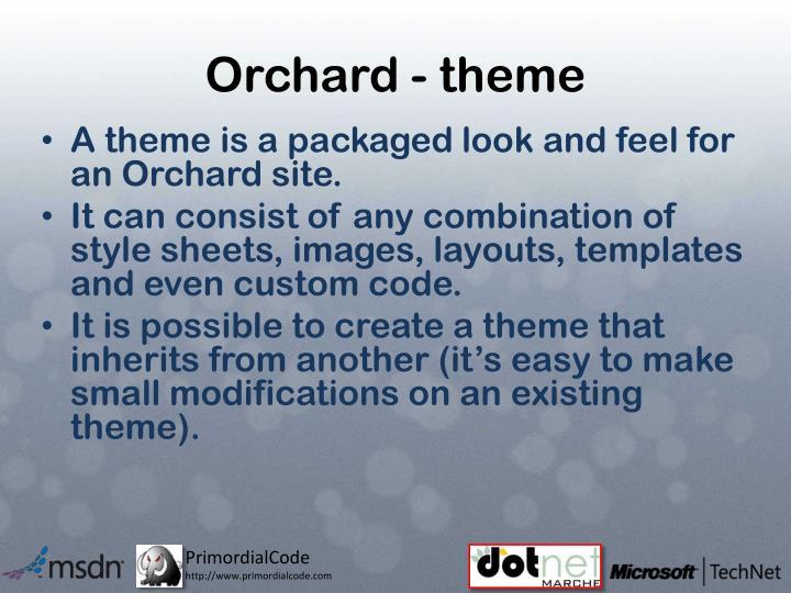 Orchard - theme