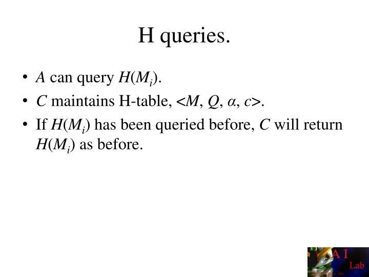 H queries.