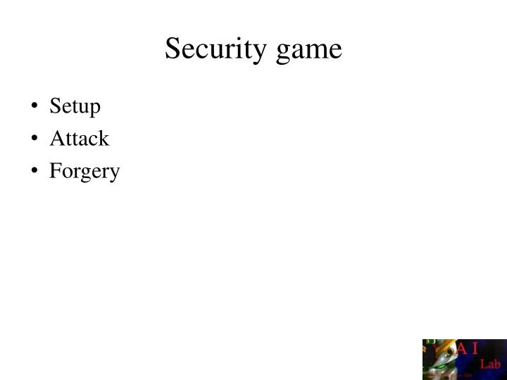 Security game
