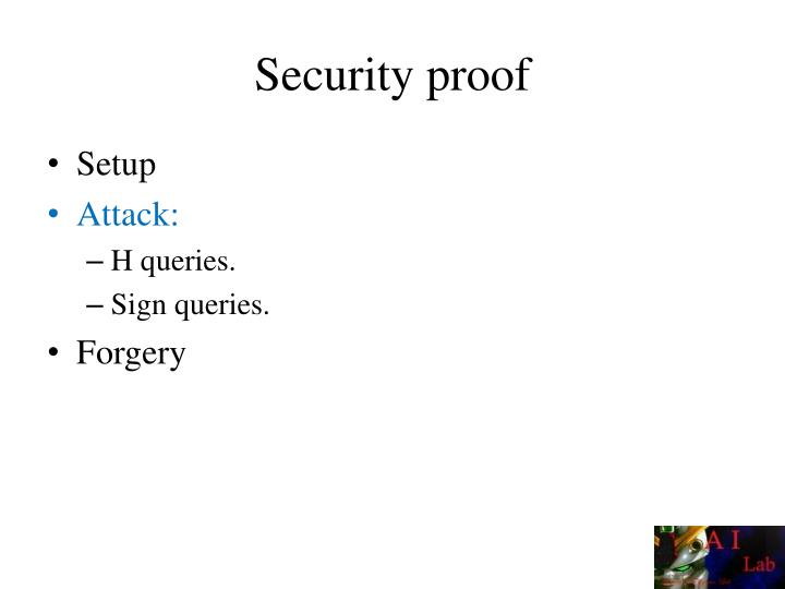 Security proof