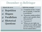 december 13 bellringer