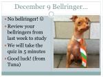 december 9 bellringer