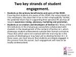 two key strands of student engagement