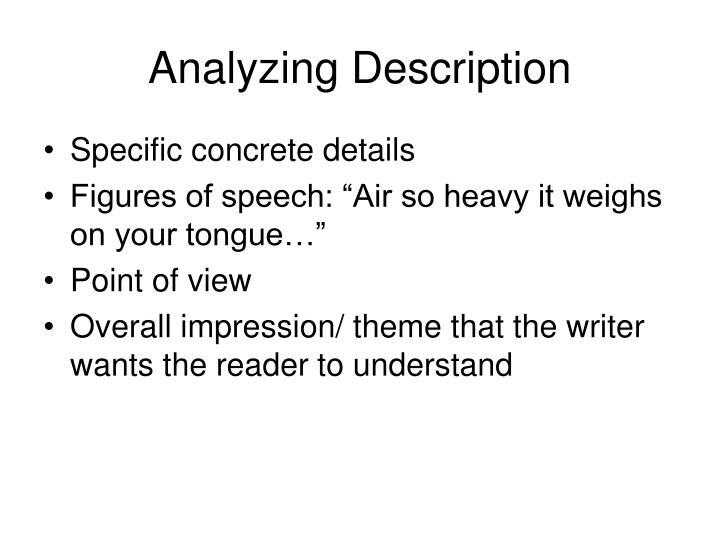 Analyzing Description