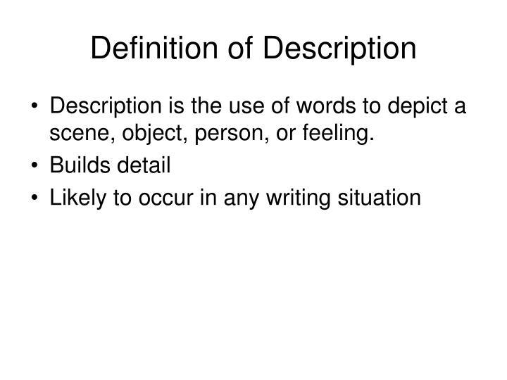 Definition of description