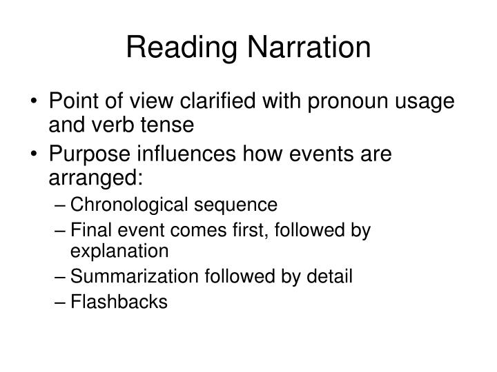 Reading Narration