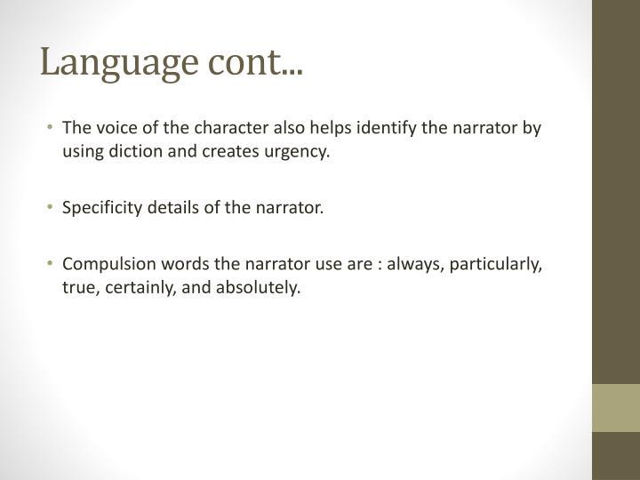 Language cont...