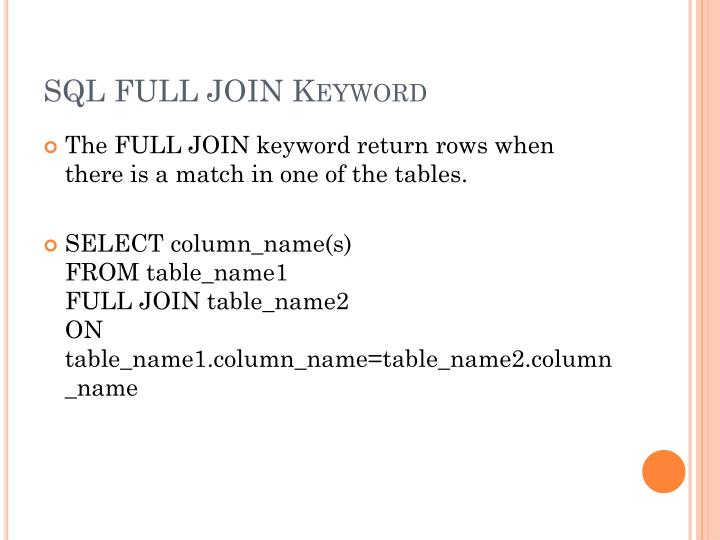 SQLFULL JOIN