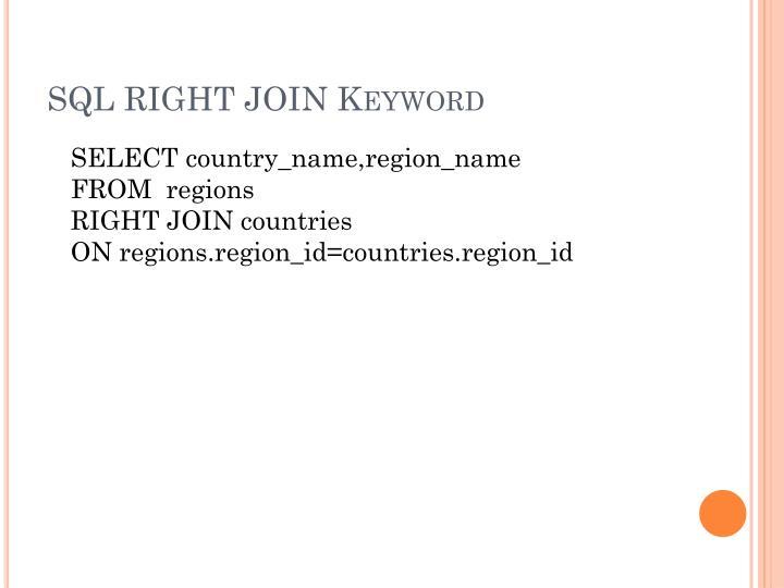 SQL RIGHT JOIN Keyword